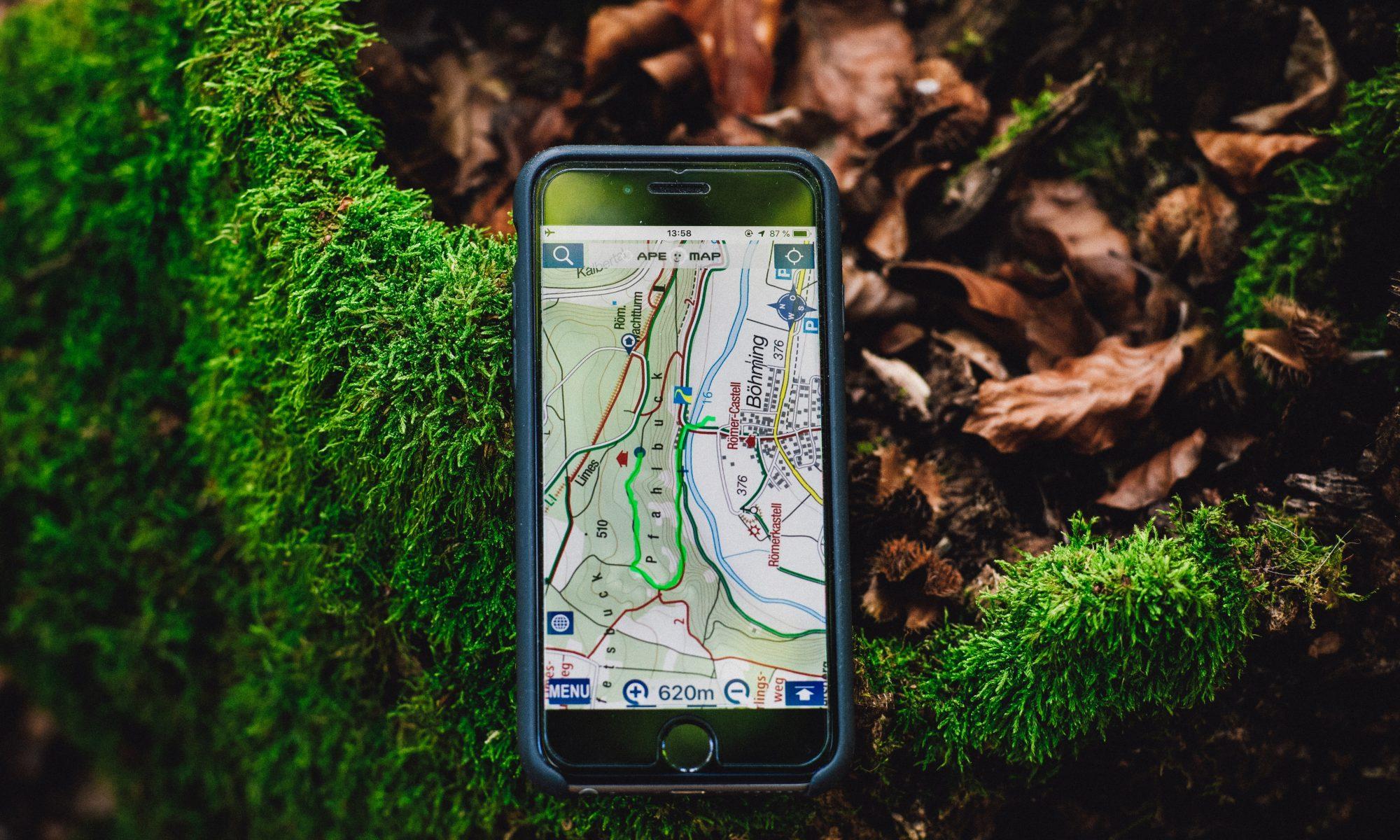 Dispositivo GPS en móvil